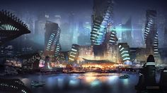 Sci-Fi Harbour by Claudio Pilia | Sci-Fi | 2D | CGSociety
