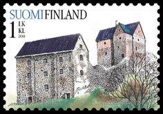 Stamp: Kastelholm Castle (Finland) (Old castles) Mi:FI 2271 Medieval Castle, Stamp Collecting, Vintage Travel, Postage Stamps, Barcelona Cathedral, Poster, World, Building, Palaces