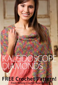 Kaleidoscope Diamonds Download from Talking Crochet newsletter. Click on the photo to access the free pattern. Sign up for this free newsletter here: AnniesNewsletters.com.