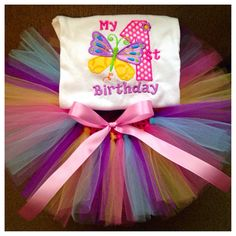 Hey, I found this really awesome Etsy listing at https://www.etsy.com/listing/224843121/butterfly-1st-birthday-tutu-outfit-first