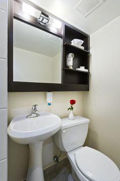Economy Room Bathroom Stand Up Shower Only (No bathtub)