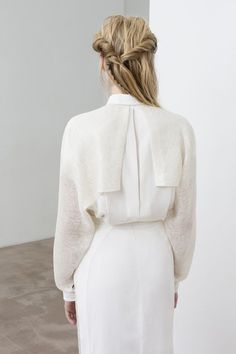 Contemporary Fashion - soft tailoring with split back panel detail; white simplicity // Yiqing Yin Spring 2016