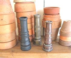 vintage brass hose nozzles