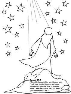 abraham looking up at stars clip art - Google Search