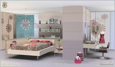 Sims 3 Blog: Petala Bedroom and Decor by Simcredible Designs
