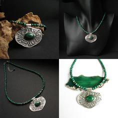 Unlocking the portal _ necklace by Fiann  #jewelry #necklace #handmade #silver #malachite