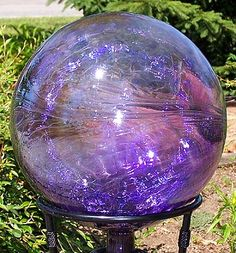 Glass gazing balls Pretty Glass Pinterest Gardens