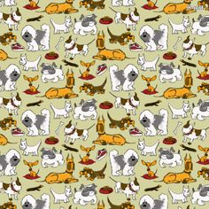 "Dog Pattern | Motiv: ""Hundemuster"" (#28006) © gitti  