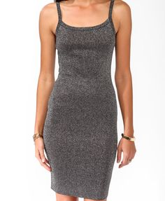 Metallic Knee Length Dress | FOREVER21 - 2043579428