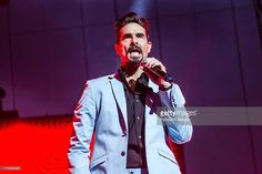 Kevin Richardson of the Backstreet Boys performs at Jacobs Pavilion on August 10, 2013 in Cleveland, Ohio.