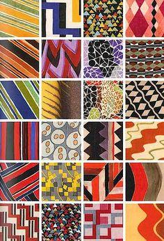 Sonia Delaunay, Tissu simultané details. by BoFransson, via Flickr