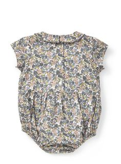 Baby Girls Holly Willoughby Ditsy Floral Print Bodysuit Romper - BHS