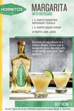 Arbonne 30 Days To Healthy Living Discover Hornitos Reposado Tequila Margarita Hornitos Reposado Tequila Margarita Combine all ingredients in a shaker. Strain into a margarita glass. Garnish with a lime wedge and serve. Tequila Drinks, Liquor Drinks, Cocktail Drinks, Alcoholic Drinks, Beverages, Refreshing Drinks, Summer Drinks, Alcohol Drink Recipes, Smoothie Drinks