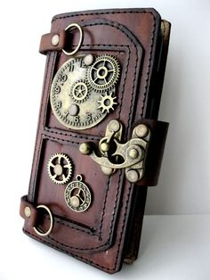 Handmade rustic brown vegetable cow leather Samsung galaxy s7 mobile cell phone case cover holder limited edition