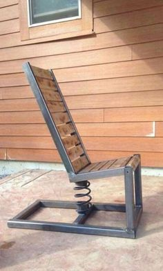 Photo for woodwork. outdoor diy projects - wood workin diy - Photo for woodwork. 25 outdoor diy projects Best Picture For woodworking tips For Yo - Steel Furniture, Industrial Furniture, Cool Furniture, Furniture Plans, Welded Furniture, Outdoor Furniture, Pallet Furniture, Shaker Furniture, Pallet Chair