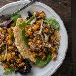 Roasted Butternut Squash, Quinoa, and Jalapeño Chimichurri Tacos