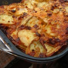 Man-Lovin' Potatoes by pomplemousse Potato Sides, Potato Side Dishes, Dinner Dishes, Food Dishes, Crack Potatoes Recipe, Scalloped Potato Recipes, Sliced Potatoes, Side Dish Recipes, Cooking Recipes