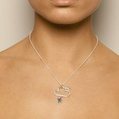 Nicole Van Der Wolf Sunny Spells Snowflake Silver Necklace