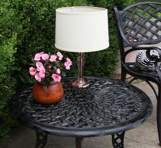 DIY Outdoor Solar Table Lamp. Don't forget to waterproof it