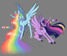 My two favorite pony's, rainbow dash and twilight sparkle My Little Pony Dolls, My Little Pony Cartoon, My Little Pony Drawing, My Little Pony Pictures, Mlp My Little Pony, My Little Pony Friendship, Raimbow Dash, My Little Pony Wallpaper, Little Poni