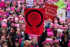 Hundreds of thousands of women gathered in Washington and other cities across the country Saturday in a kind of counterinauguration after President Trump took office on Friday.