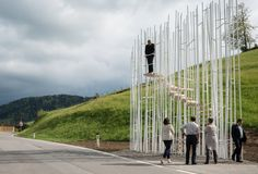 BUS:STOP Unveils 7 Unusual Bus Shelters by World Class Architects  I find Sou Fujimoto's Bus stop interesting.