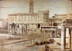 Foto storiche di Roma - Foro Romano Anno: 1866 ca