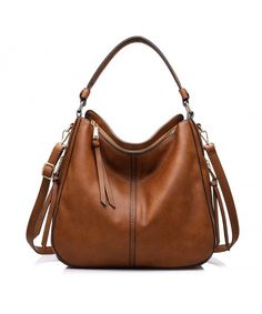 23c6d57ec28d Shoulder Bags for Women Large Ladies Crossbody Bag with Tassel - Large  Light Brown - CP12MARTR6Z