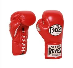 Cleto Reyes Official Safetec Professional Boxing Gloves - Red