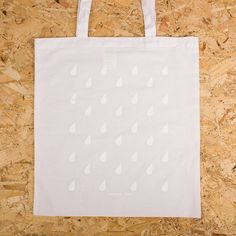 White on white tote bags for http://www.sparrowandwolf.co.uk - classy!