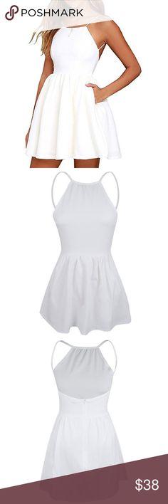 Mini Spaghetti 🍝 Strap Mini Dress Polyester and Cotton blend dress Dresses Mini