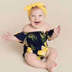 c4be5c7f8 Cute Newborn Baby Girl Clothes 2017 Summer Off shoulder Pear Printed  Toddler Kids Jumpsuit +Headband Outfits Sunsuit Clothing