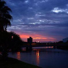 O entardecer no Recife
