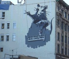 clik on the image to see it in motion: ABVH criou gifts animados com as obras de Banksy