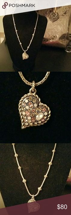 Brighton rhinestone heart in pink reversible 2 in 1 necklaces. stunning a mistake have for any Brighton lover or anyone at all.  so lovely. Brighton  Jewelry Necklaces