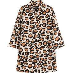 Marc by Marc Jacobs Leopard Print Cotton Coat ($305) ❤ liked on Polyvore featuring outerwear, coats, animal prints, cotton coat, slim fit coat, leopard coat, marc by marc jacobs coat and polka dot coat