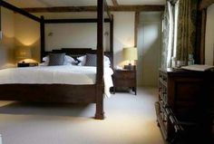 4 Poster bed via the george in rye The George In Rye, Boutique Hotel Room, Superior Room, Four Poster Bed, Luxury Rooms, East Sussex, United Kingdom, Cottage, Contemporary