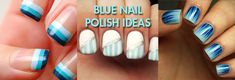 Blue nail polish is oh so trendy for summer! From light blue shades, to the darkest of navy, you can't go wrong. Check out these 15 blue manicure ideas to keep up your nail game this summer!.
