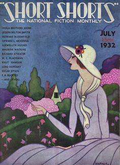 """Short Shorts"" Magazine cover by katinthecupboard, July, 1932 Art Vintage, Retro Art, Vintage Ads, Vintage Posters, Retro Posters, Antique Art, Movie Posters, Magazine Cover Design, Magazine Art"