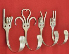 J'ai l'amour vous 2 spécial dîner fourchette Collector mis 4 patères argenterie American Sign Language