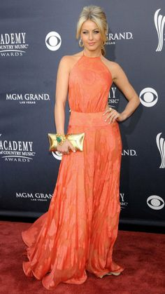 Vestidos de Festa!: Country Music Awards 2011: Vestido Laranja/Coral