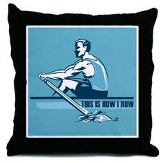 Rowing Crew Throw Pillow