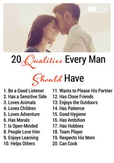 Qualities Every Man Should Have, Marriage Advice, Marriage Tips, Marriage Ideas, Ways to Help Marriages, Dating Advice
