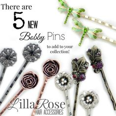 Lilla Rose Bobby Pins http://lillarose.biz/rrobinson A fun way to dress up your hair, no matter the length or type!