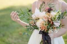Kelsie Lynn Photography collaborated with a talented team of vendors to create a fall-inspired harvest wedding styled shoot.