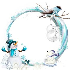 Round Transparent Blue PNG Christmas Frame with Snowman​ Christmas Border, Christmas Frames, Christmas Scenes, Christmas Background, Christmas Pictures, Christmas Art, All Things Christmas, Vintage Christmas, Christmas Clipart