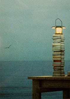 Love this .... nothing like the ocean and a pile of books to read! (Or a Kindle would do just fine, too! :-)   Quint Buchholz.