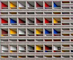 l' Unite d' Habitation / La Cité Radieuse. Marseille, France. 1952. Le Corbusier