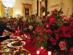 East Room buffet, White House Christmas Party, 2012