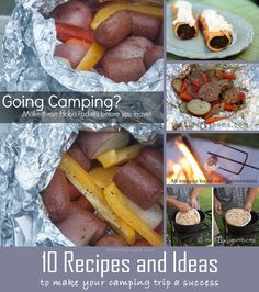 10 Camping Recipes and Ideas to make around the campfire and to make your camping trip a success. Easy, thrifty, hearty and comfort food in the woods!